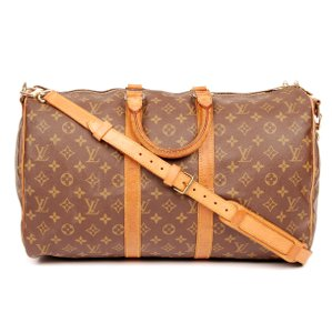 Louis Vuitton Monogram Duffle Keepall Canvas Brown Travel Bag