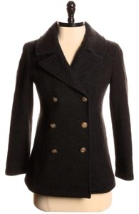 jcrew majesty peacoat in stadium cloth charcoal grey Pea Coat