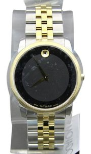 Movado MOVADO Museum Swiss Made Black Dial Two-Tone Men's Watch,07 1 19 1264