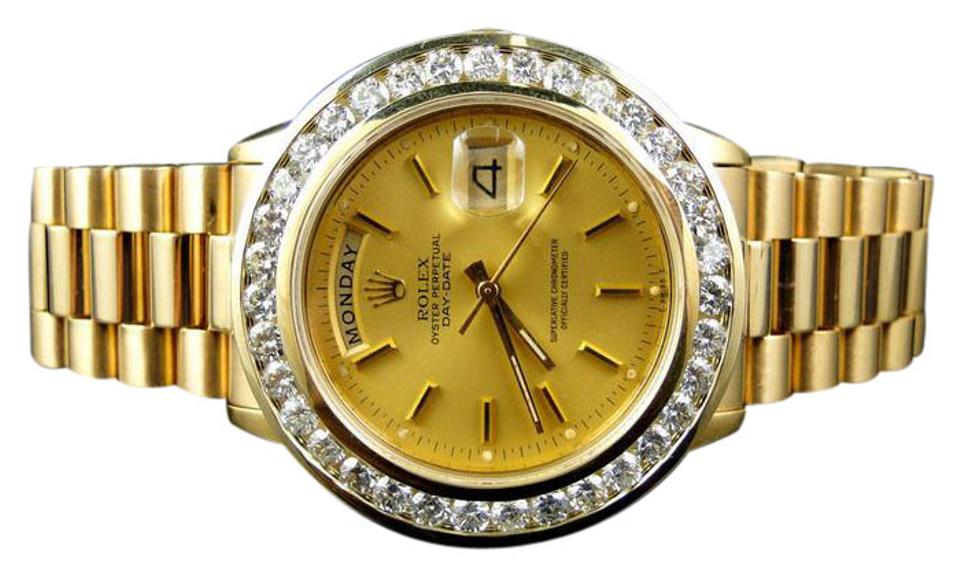 b37d553dac7ba Rolex Pre-Owned Mens 36MM President Day-Date 18238 Diamond 5.0 Ct Image 0  ...