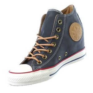 Converse Chuck Taylor All Star Lux Nike Peached Canvas Almost Black Wedges
