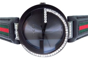 Gucci Gucci Black PVD 42 MM XL Interlocking GG Diamond Watch 1.5 Ct YA133206