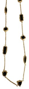 Kate Spade Kate Spade Women's Black Desert Stone Long Gold Necklace