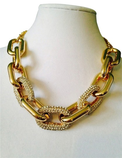 Panacea Cache Embellished by Leecia Gold Crystal Link Necklace