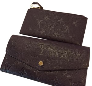 Louis Vuitton curieuse wallet with pouch Wristlet in purple