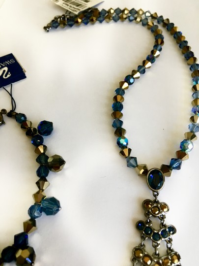 Swarovski Swarovski Blue Stone Crystal Necklace and Bracelet Set
