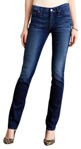 7 For All Mankind Kimmie 7fam Kimmie Flattering Mid-rise Straight Leg Jeans-Dark Rinse