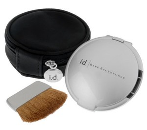 bareMinerals bareMinerals Silver Mirrored Compact with Brush and Case