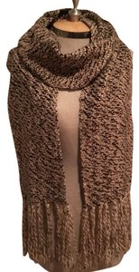 Banana Republic Brown & Beige Fringed Scarf