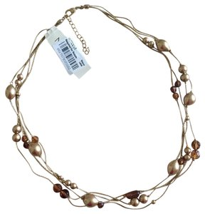 Macy's Triple chain and beaded necklace