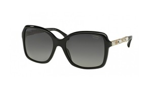 Chanel NEW Square Bijou Sunglasses CH 5308B c. 501/S8 Black w/ Polarized lens