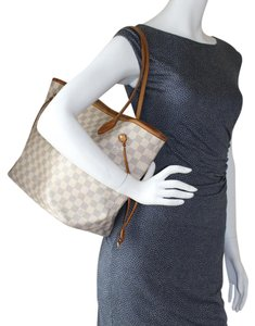 Louis Vuitton Neverfull Damier Canvas Tote in Azur