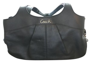 Coach Blue Leather Soft Hobo Bag