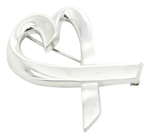 Tiffany & Co. Tiffany & Co. Sterling Silver Paloma Picasso Loving Heart Pin Brooch