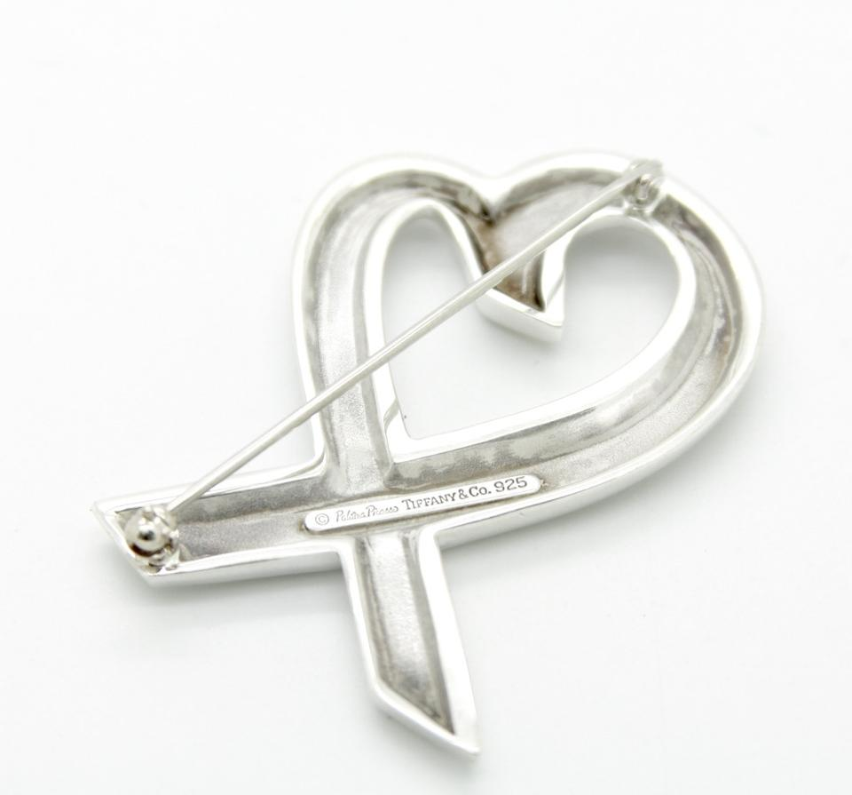8739bb91898a5 Tiffany & Co. Sterling Silver Paloma Picasso Loving Heart Pin Brooch