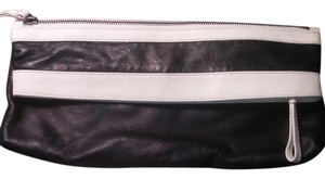 Kenneth Cole Evening Foldover black and white Clutch