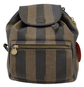 Fendi Zucca Pattern Canvas Backpack