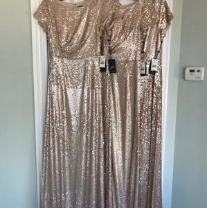 Adrianna Papell Nude Adriana Papell Sequin Gown - Multiple Sizes Dress