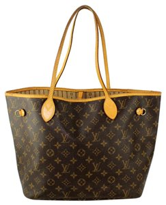 Louis Vuitton Neverfull Mm Canvas Tote in Monogram