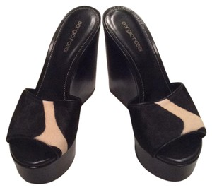 Sergio Rossi Black/cream Mules