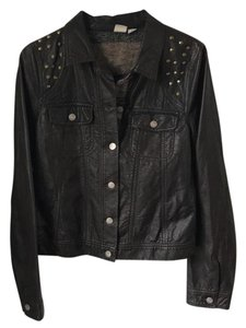 Roxy Dark Brown Leather Jacket