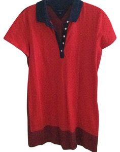 Tommy Hilfiger short dress red and navy blue on Tradesy