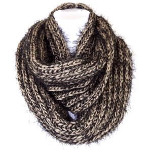 Other B83 Brown & Black Super Soft Fuzzy Infinity Scarf