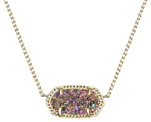 Kendra Scott Rare Gold and Multicolored Drusy Elisa Necklace
