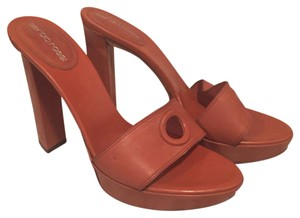 Sergio Rossi Mule Leather brown Platforms