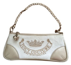 Juicy Couture Wristlet in Ivory and Gold