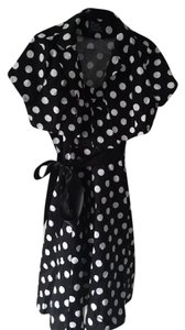 H&R short dress BLACK & WHITE POLKA DOT Jacket on Tradesy