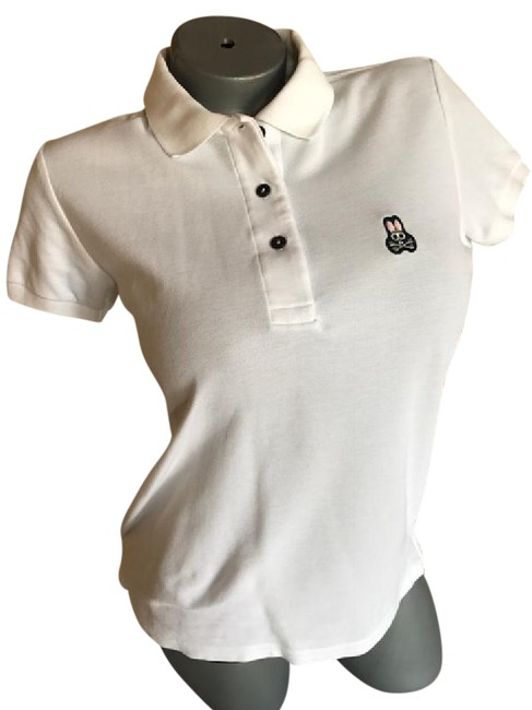 Item - White Womans Polo - Small Button-down Top Size 4 (S)