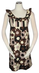 Betsey Johnson short dress Multi-color Floral Size 6 Brown on Tradesy