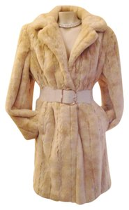 Gallery Faux Luxury 3/4 Length Jacket Vegan Fur Coat