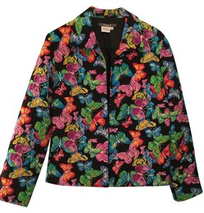 Maggy London Silk Butterfly multi colored Jacket