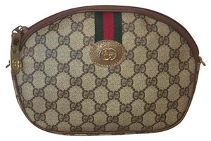 Gucci Monogram Green and Red Web Stripe