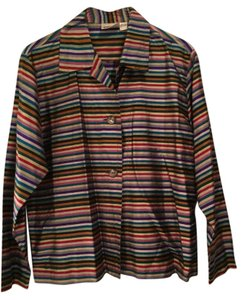 Chico's Silk Striped multi Jacket