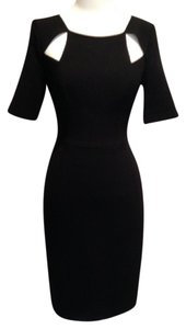 Black Halo Evening Cut-outs Short Sleeves Dress