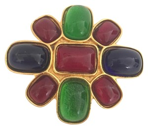 Céline Celine Brooch Multi Color