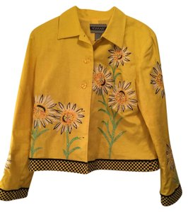 Other Flowers Embroidered yellow Jacket