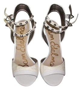 Sam Edelman White w/ Silver hardware Sandals