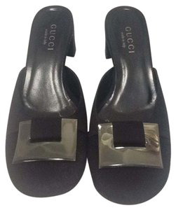 Gucci Pony Hair Black Mules