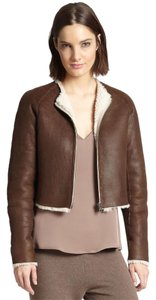 Theory Brown / Ivory Leather Jacket