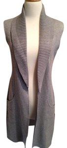 Halston Cotton Small Sleeveless Cardigan