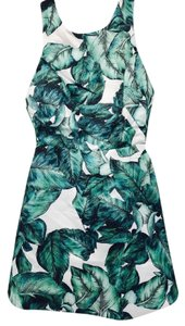 Snidel short dress Green/White Leaf Summer Fit And Flare on Tradesy
