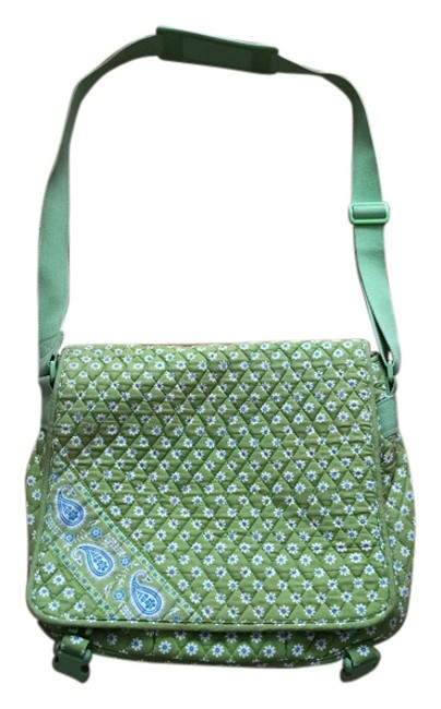 Item - Green Blue White Quilted Messenger Bag