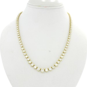 Other 18k Gold 13.62ctw Diamond Graduated Tennis Riviera Necklace