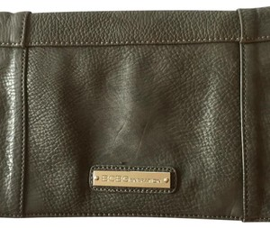 BCBGeneration Faux Leather Studded Charcoal, Grey Clutch