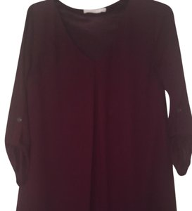 Lush short dress purple/wine on Tradesy