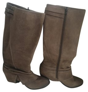 Fergie Distressed Taupe Boots